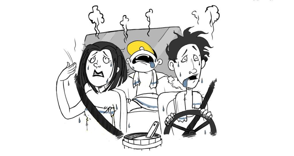 Sprijecite preveliko zagrijavanje auta.