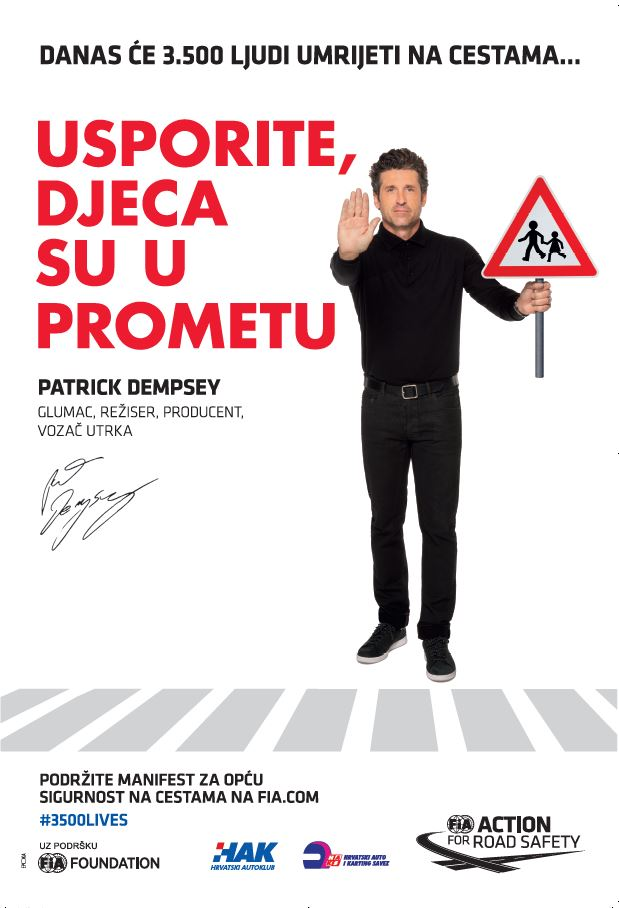 Patrick Dempsey #3500 života
